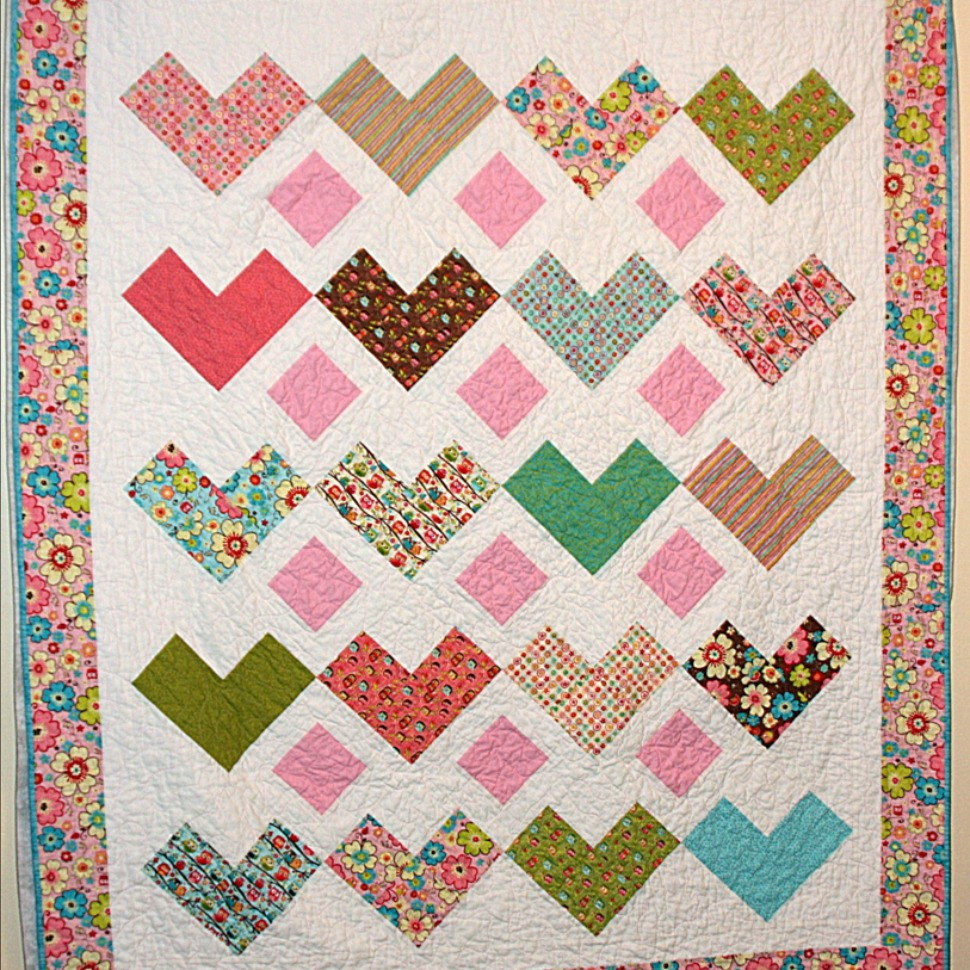 Lorelei's heart quilt