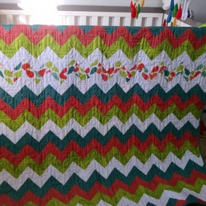 Chevron Quilt from 2 1/2 by 4 1/2 rectangles