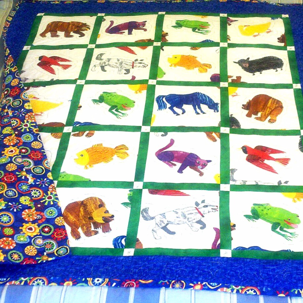 Brown Bear Baby Quilt