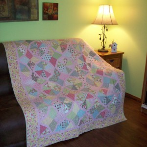 Bordered Periwinkle Quilt