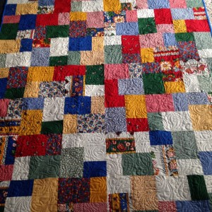 Mom's Scrappy Quilt