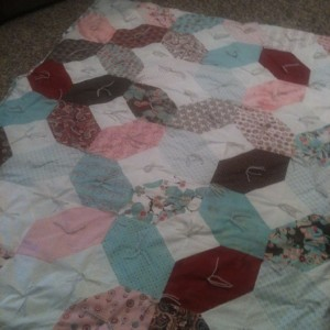 My first pieced quilt 2013