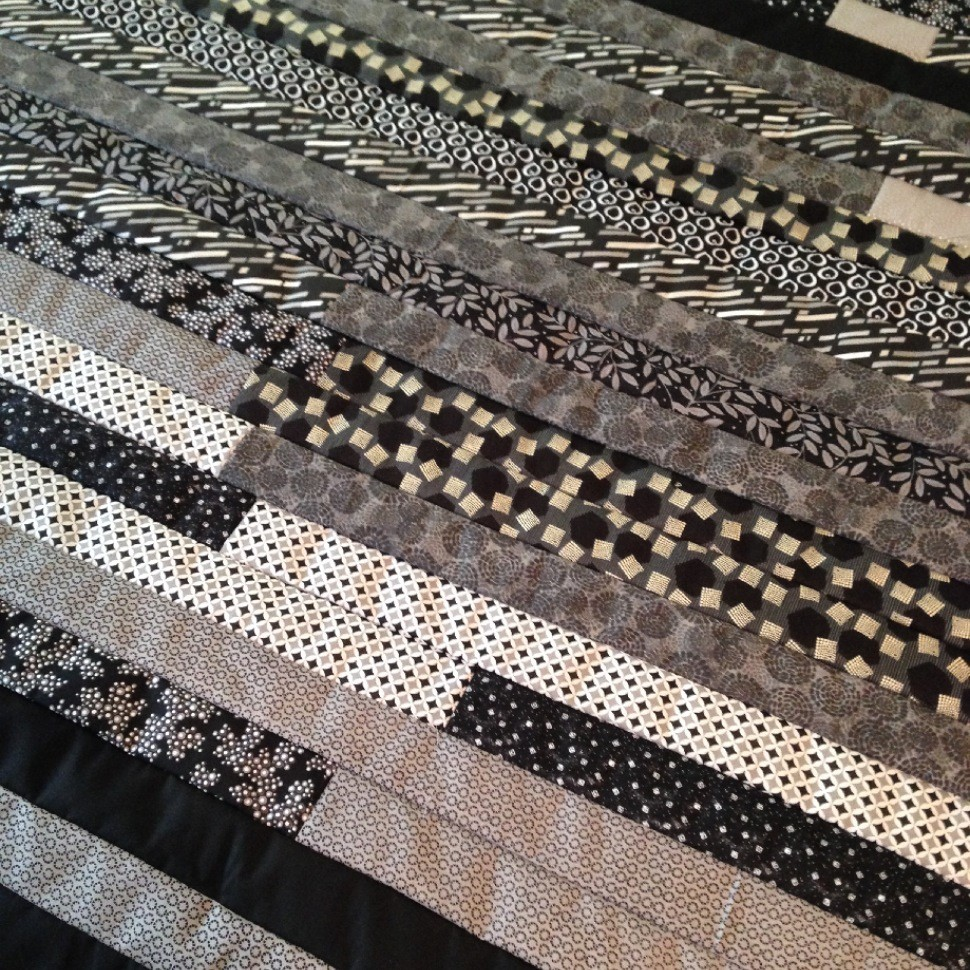 Black and Gray Jelly Roll Quilt