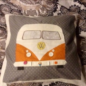 VW 40TH BIRTHDAY THROW Pillow