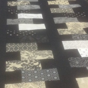 Little Black Dress II Zipper Quilt