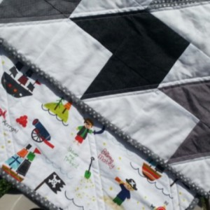 piratey baby quilt