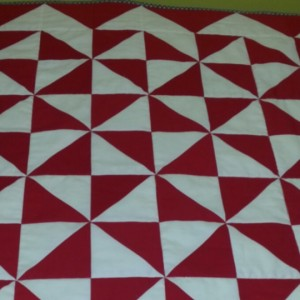 Red and White baby quilt