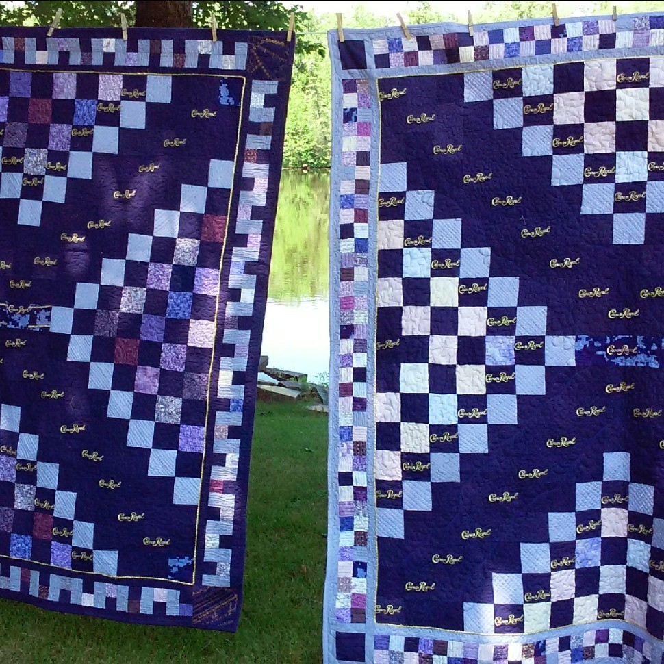 Double Crown Royal quilts