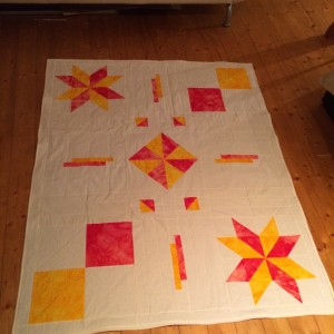 Red and yellow Batiks