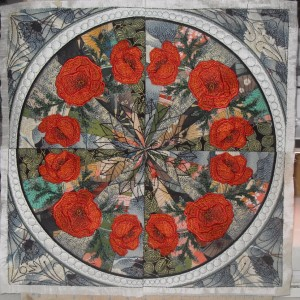 The Royal Oriental Poppies Art Quilt for the fair