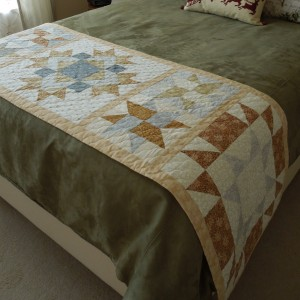 Winter Stars bed runner