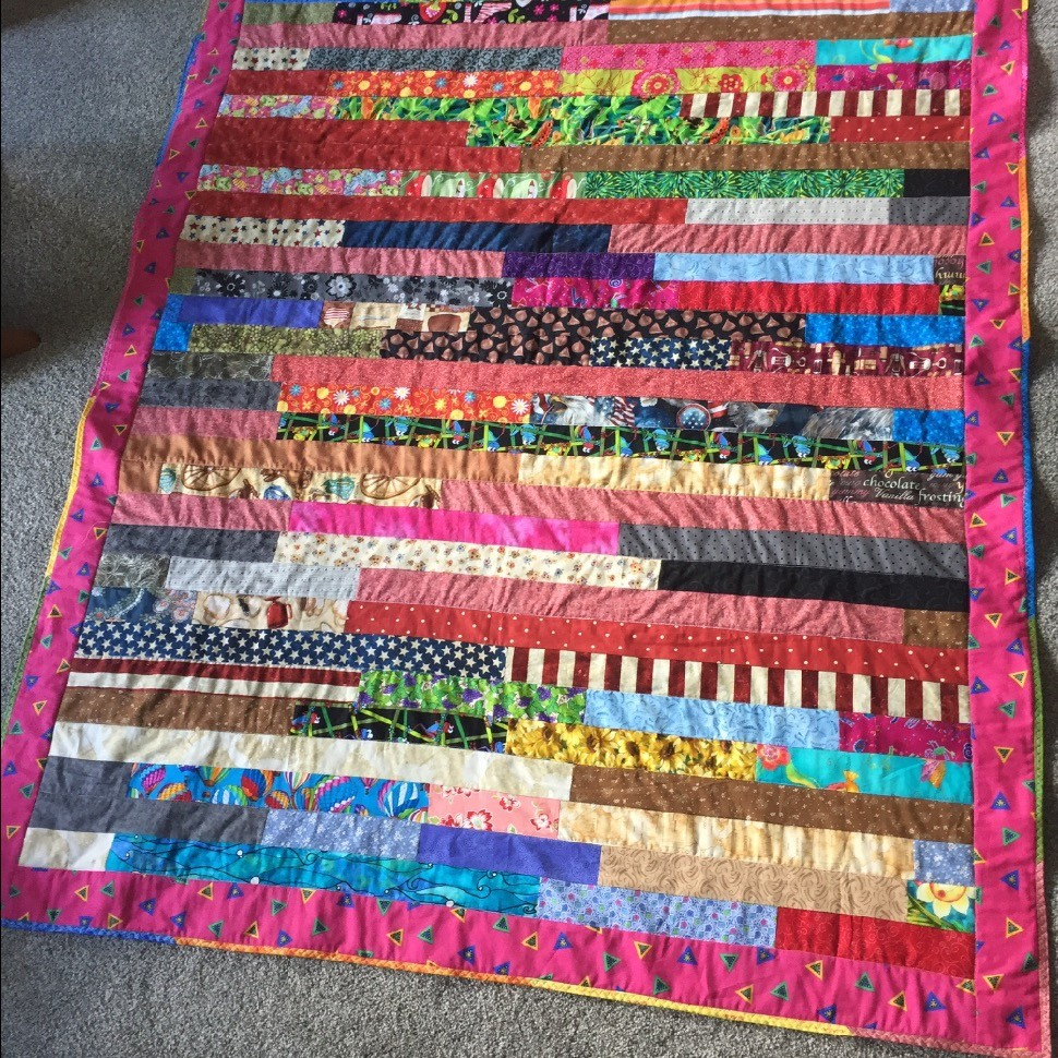 Jelly roll scrap quilt