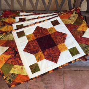 Autumn Quatrefoil & Friendship Braid Table Topper