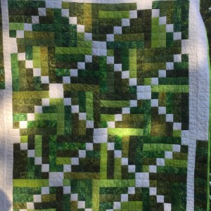 Sticks and Stones Quilt for Grandson