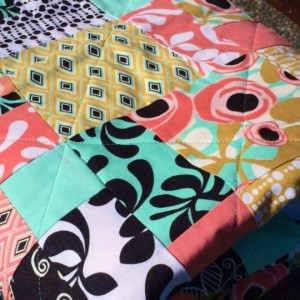 Peach Aqua napping Quilt