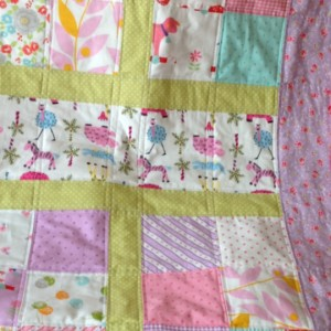 Lilac baby quilt