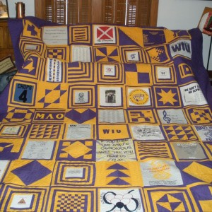 T-shirt quilt gone too far!