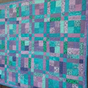 Purple and Teal Squares
